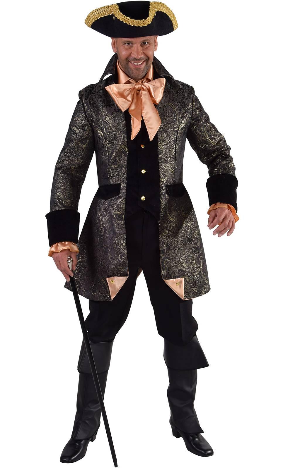 Costume marquis noir et or grande taille