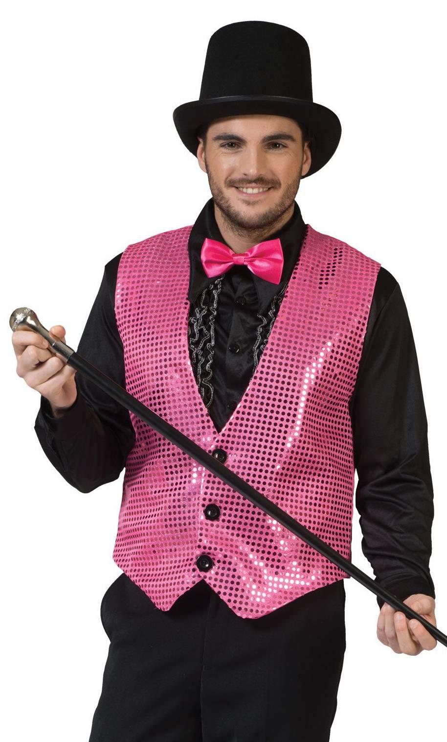 Gilet-rose-Cabaret