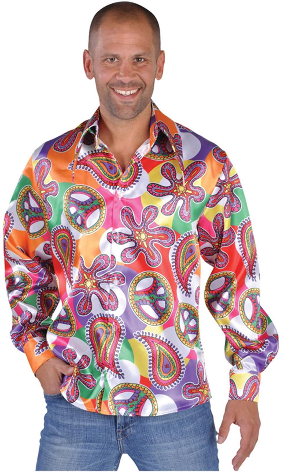 Chemise de hippie homme 70s grande taille