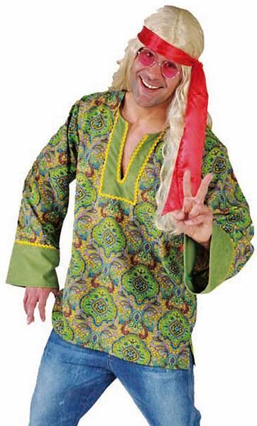 Chemise-de-hippie-verte-homme
