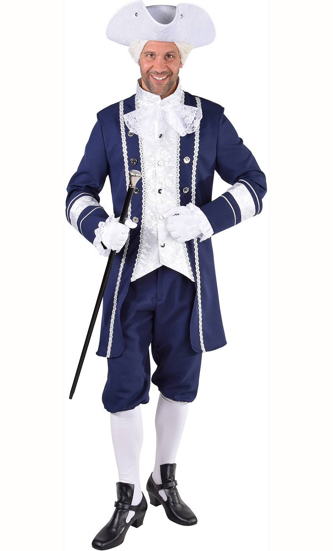 Costume de casanova bleu grande taille