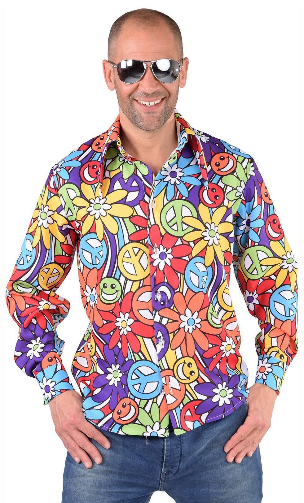 Chemise-Hippie-Fleurs-grande-taille
