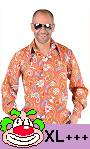 Chemise-disco-homme-orange-XL-XXL