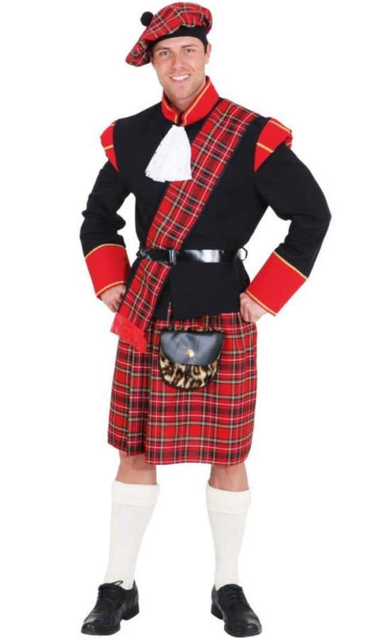 Costume ecossais rouge - Déguisement homme