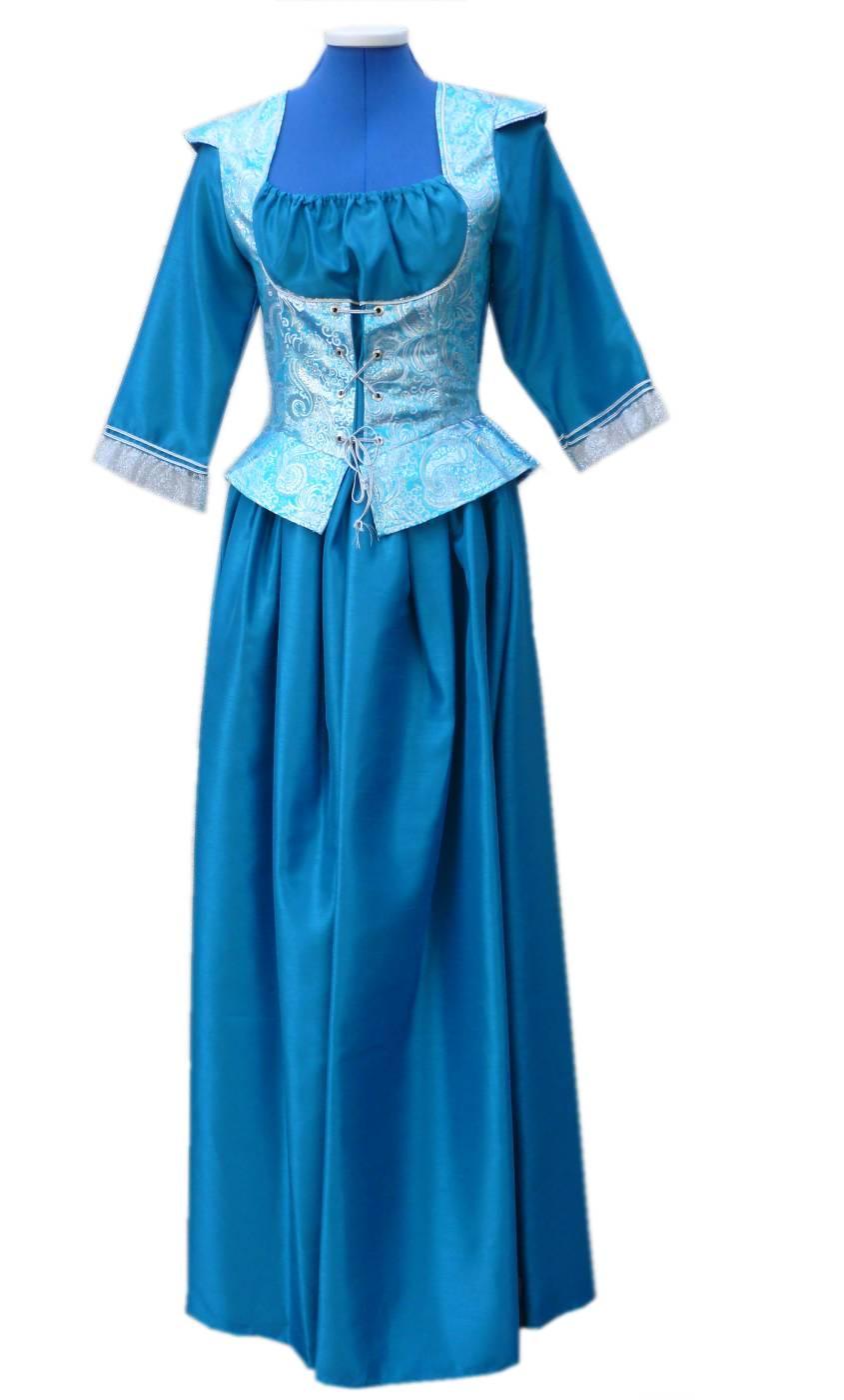 Robe-de-Marquise-bleue-Grande-Taille