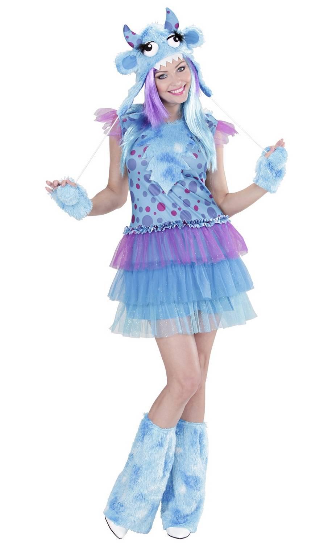 Costume de monstre bleu pour femme