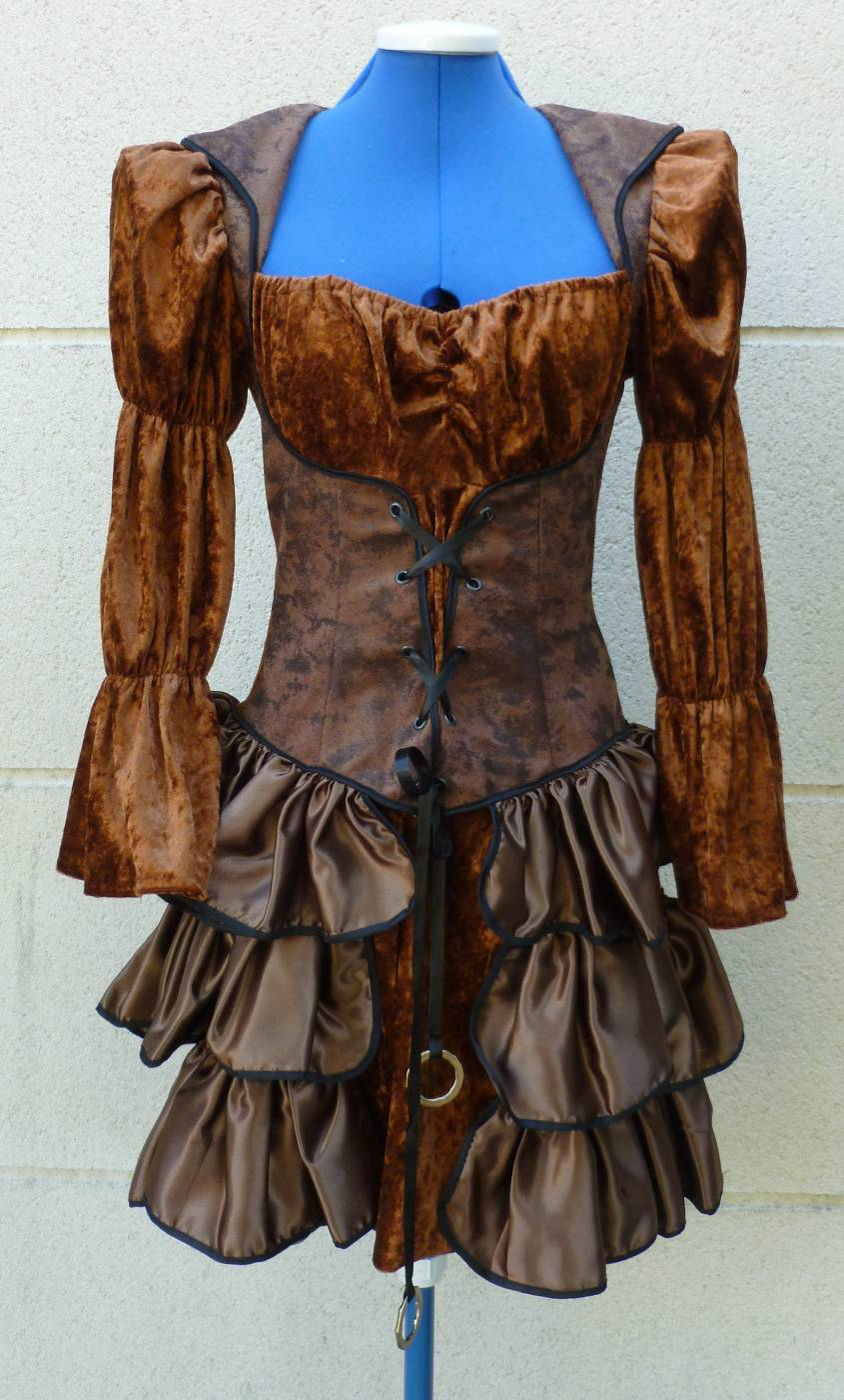 Costume marquise steampunk grande taille