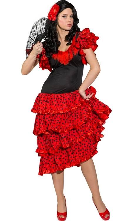 costume d 39 espagnole femme en grande taille w20097. Black Bedroom Furniture Sets. Home Design Ideas