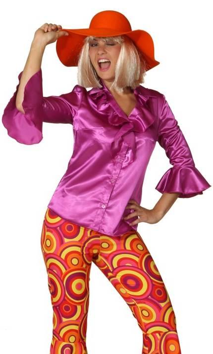 Chemise-Disco-pour-femme