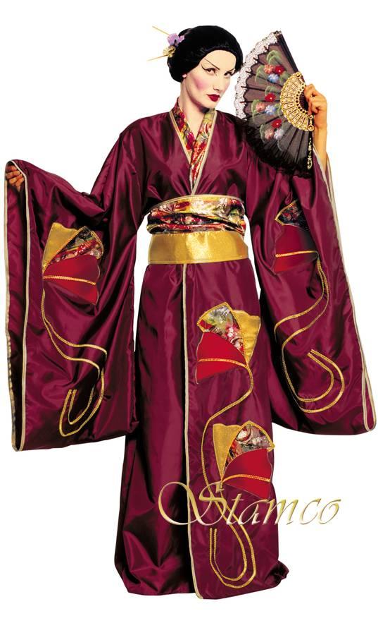 Costume-Geïsha-bordeaux-Luxe