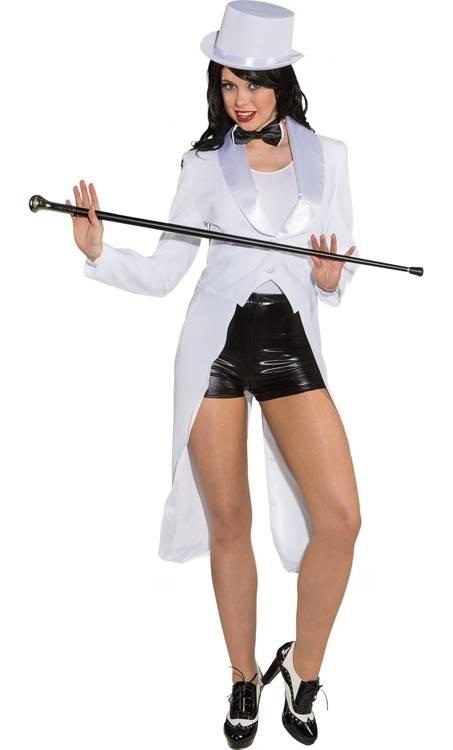 Costume-Queue-de-Pie-Blanc-Femme-Grande-Taille