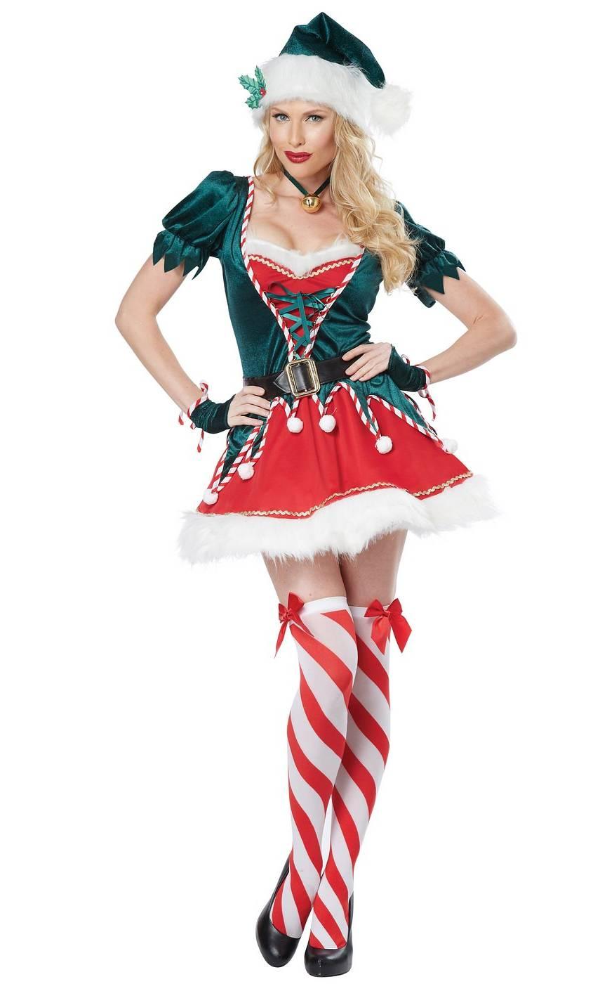 Costume-Lutin-de-Noël-pour-Femme-XL-XXL