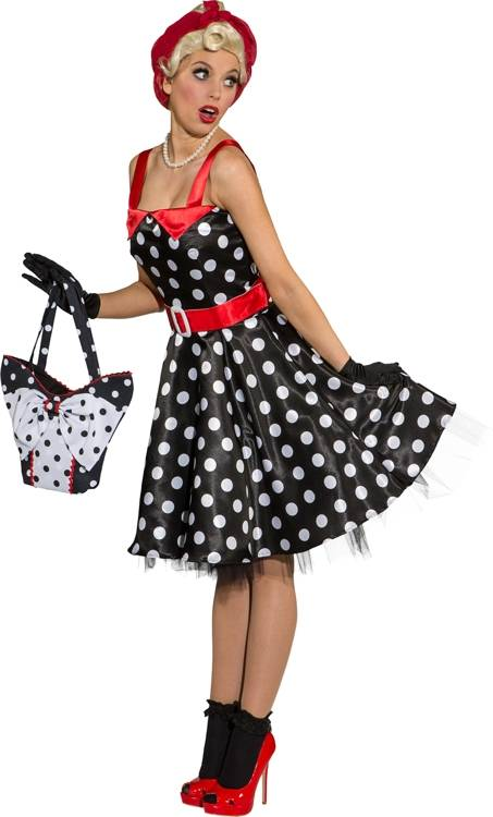 Robe-Pin-up-noir-pois-blancs