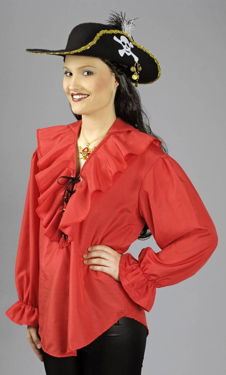 Chemise-rouge-Femme