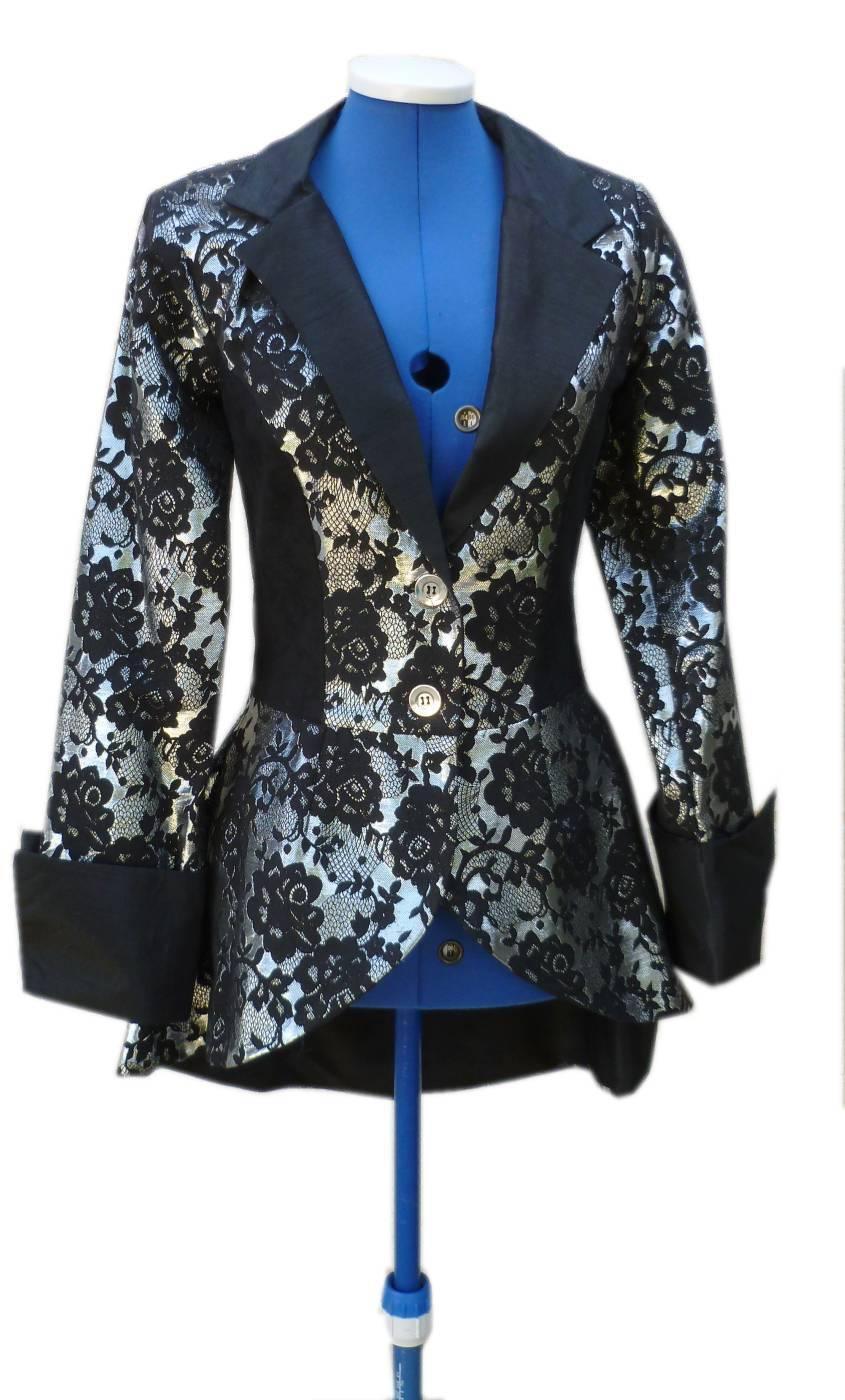 Veste-Femme-Argent-Grande-Taille-XL
