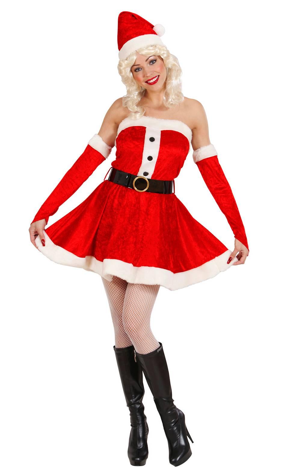 Costume-Mère-Noël-Grande-Taille-XL