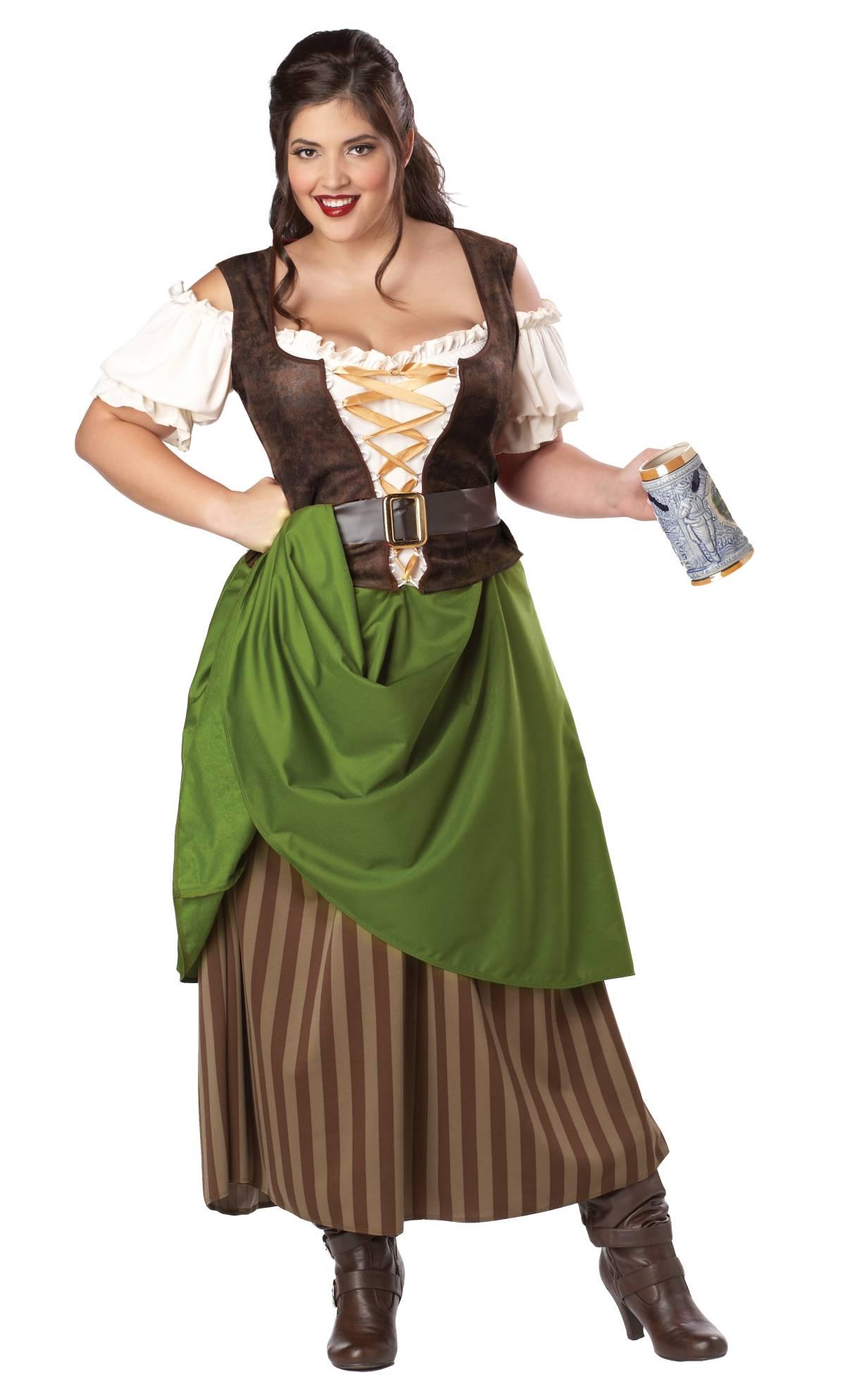 Costume-Médiévale-Femme-XXL-XXXL