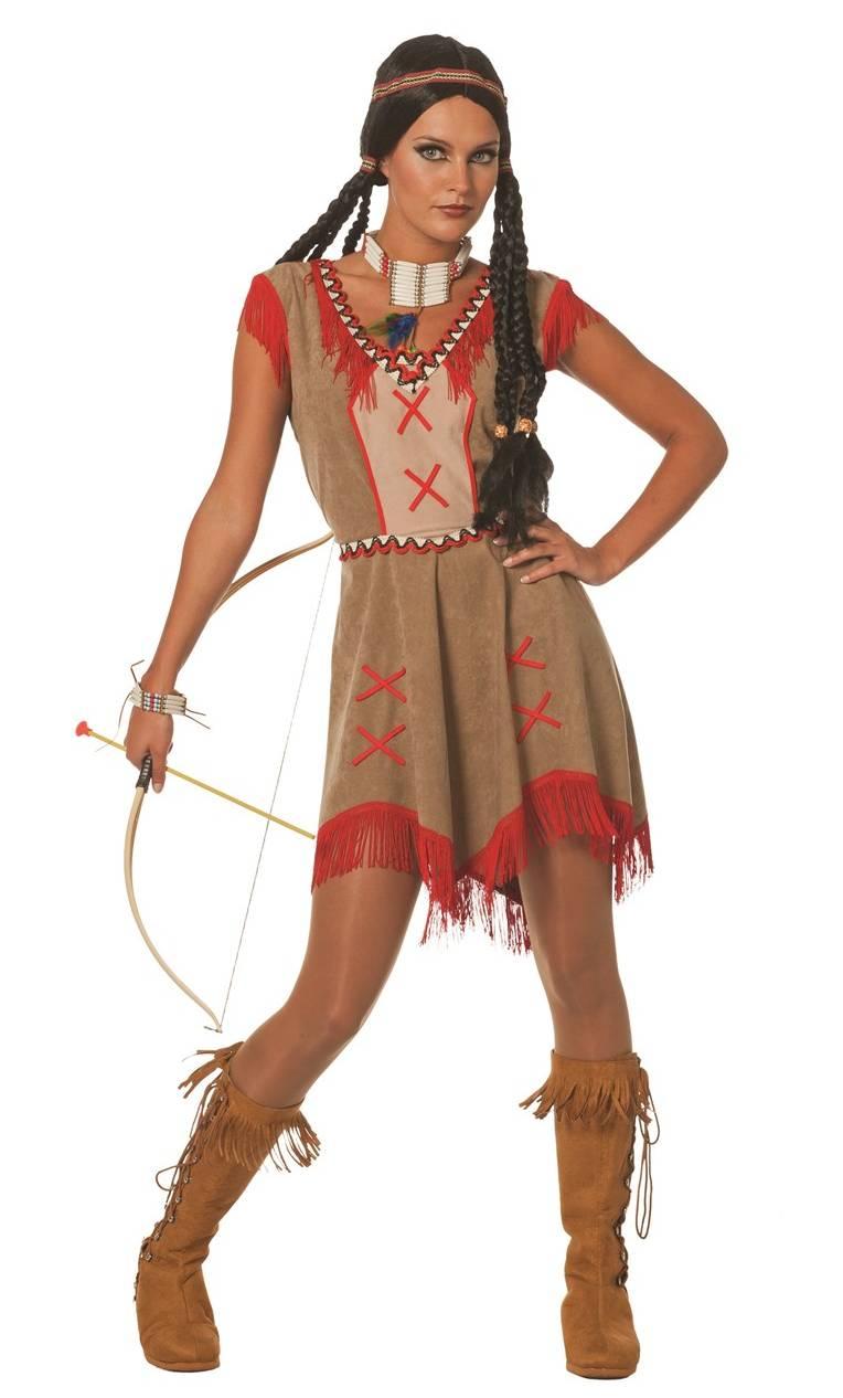 Déguisement-Indienne-Femme
