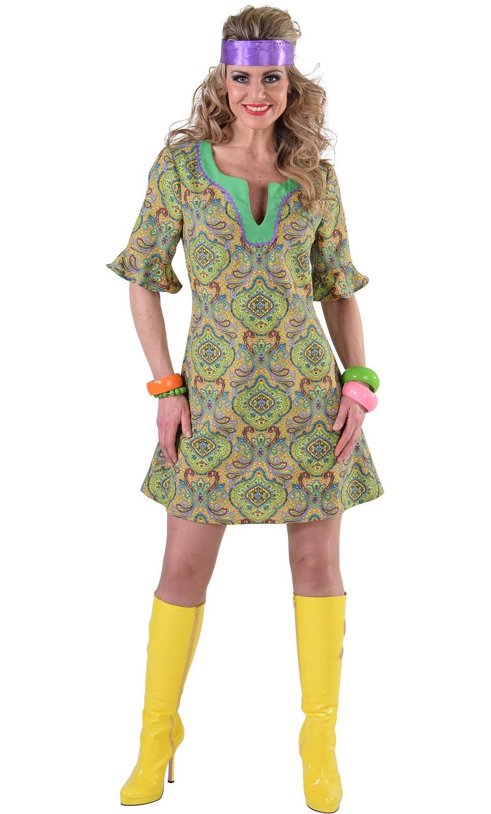 Robe hippie verte en grande taille