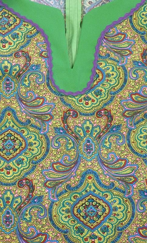 Robe-Hippie-verte-en-grande-taille-2