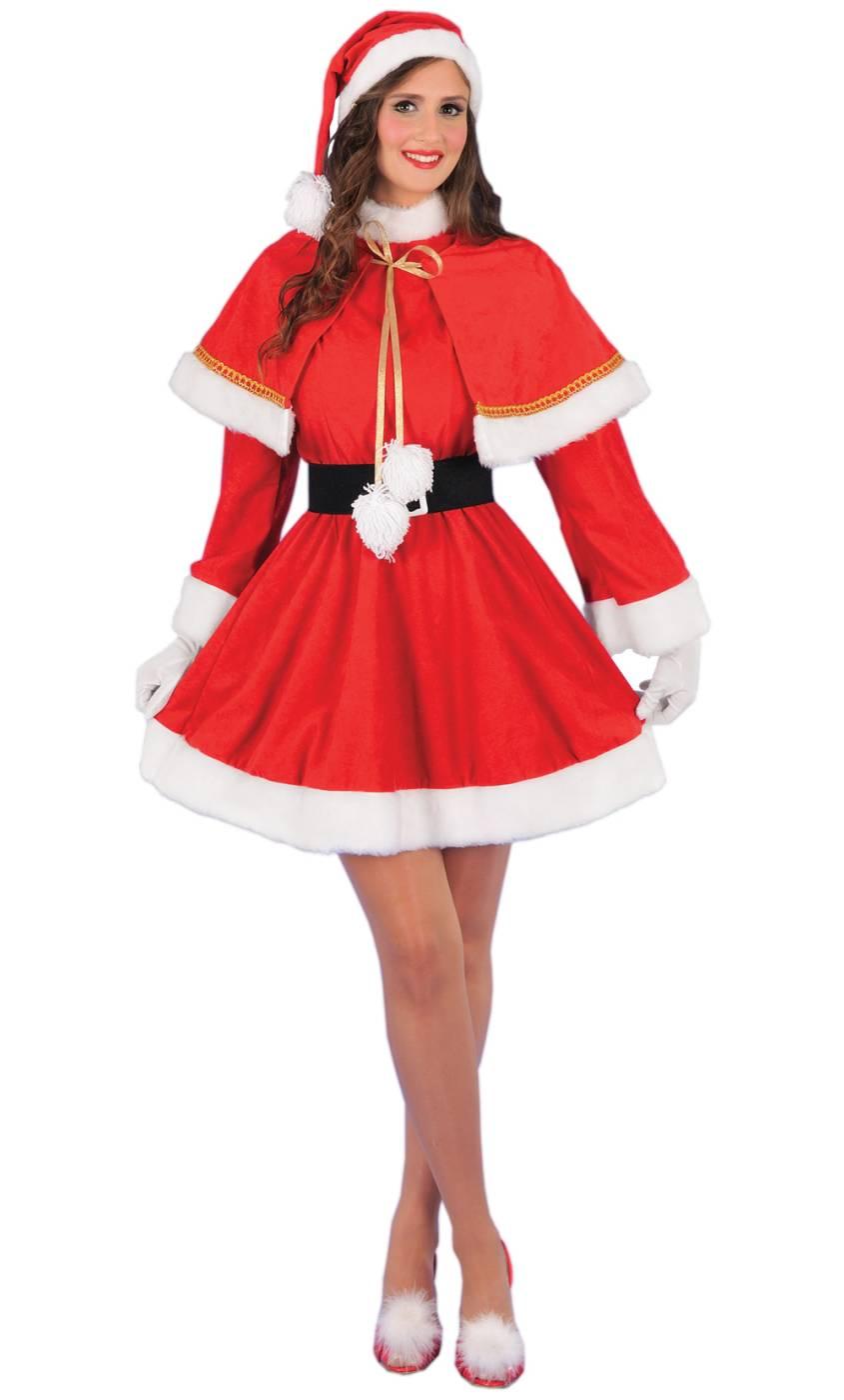 Costume-de-Mère-Noël-avec-cape