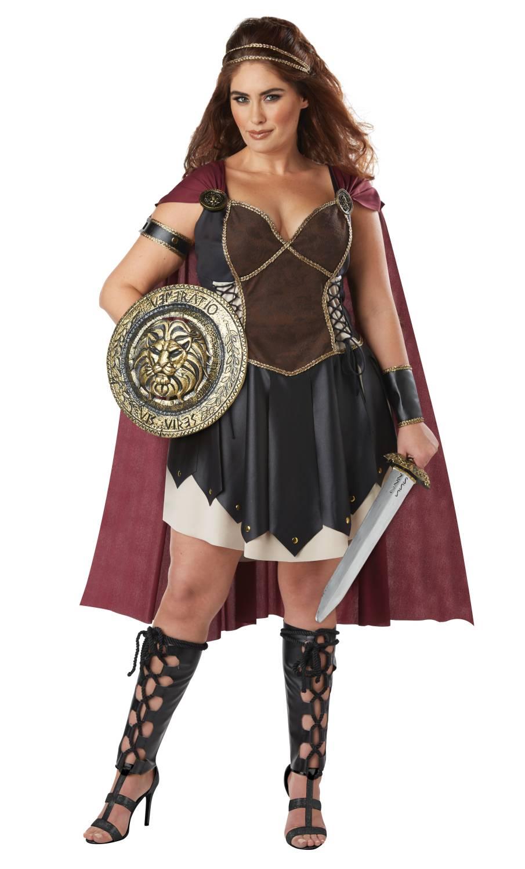 Déguisement-de-gladiatrice-grande-taille