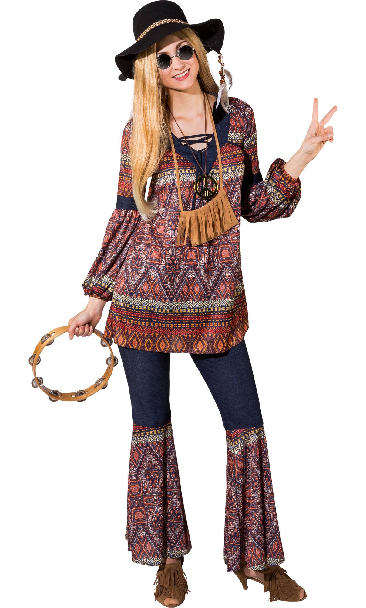 Costume-Hippie-femme-grande-taille