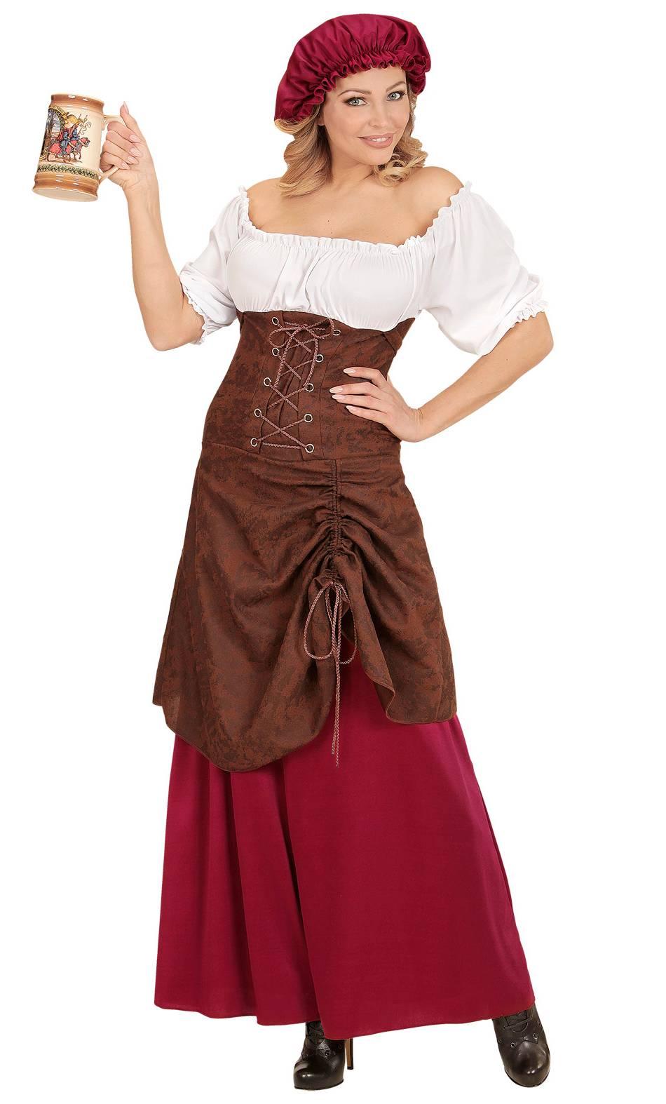Costume-de-paysanne-du-Moyen-Âge
