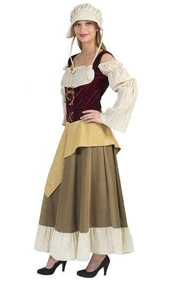Costume-de-paysanne-médiévale-grande-taille