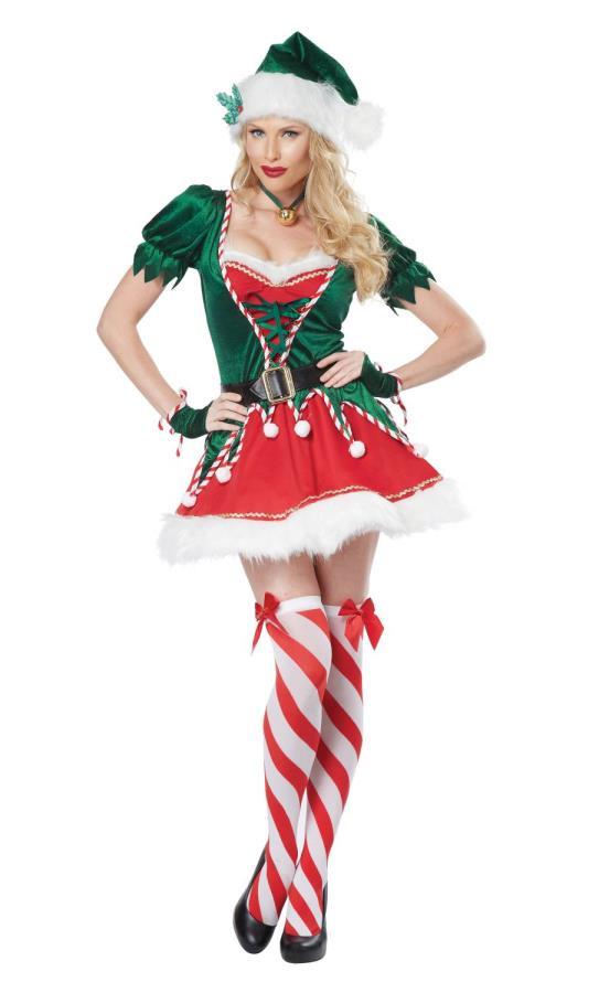 Costume-lutin-de-Noël-pour-femme